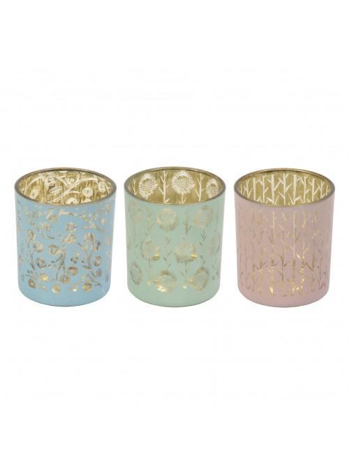 'Vicky Yorke' Sand Dunes Set of 3 Candle Holders