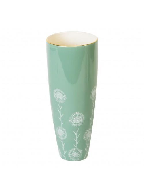 'Vicky Yorke' Soft Green Dolomite Vase 25cm
