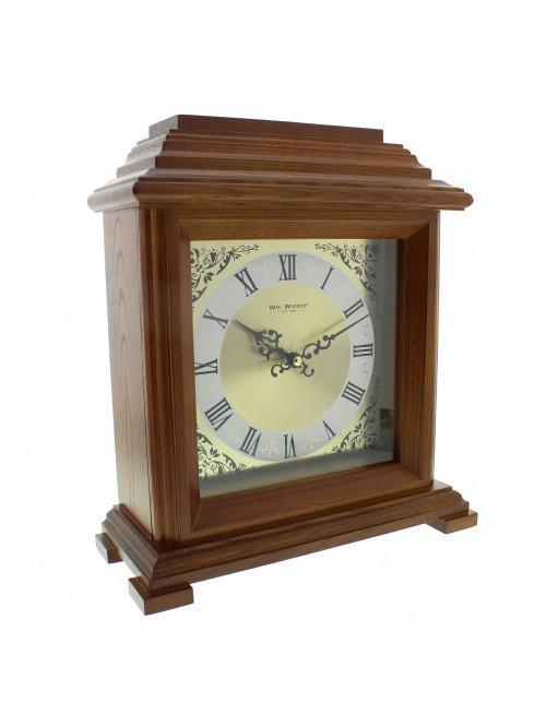 Widdop Walnut Effect Mantel Clock Bracket Style