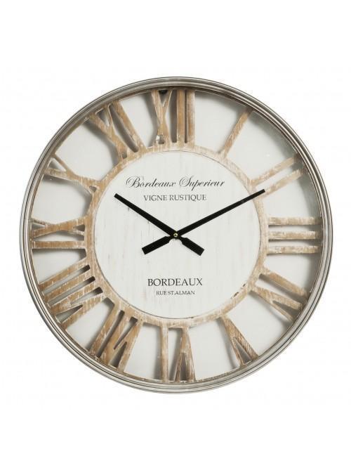 Hometime MDF & Metal Wall Clock Cut Out Roman Dial