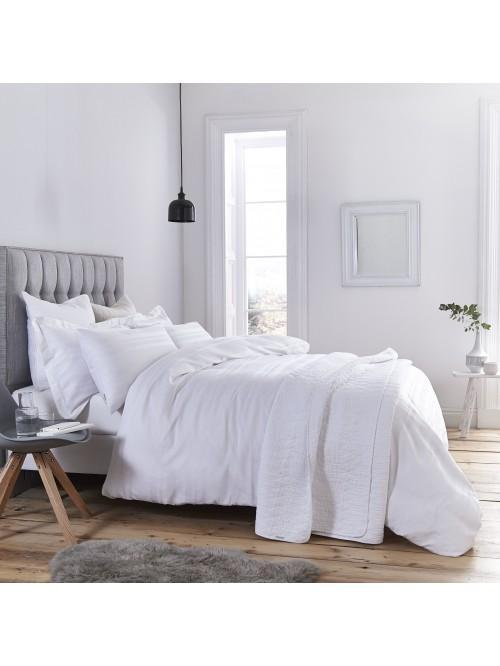 Bianca Waffle Cotton Stripe Bedding Collection White