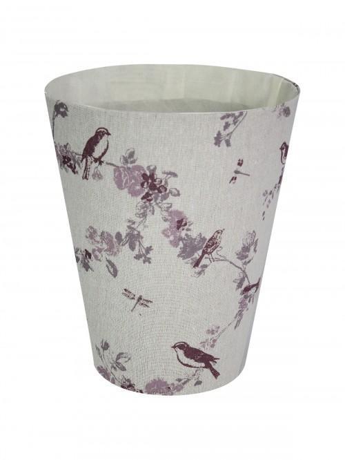 Pink Finch Waste Basket