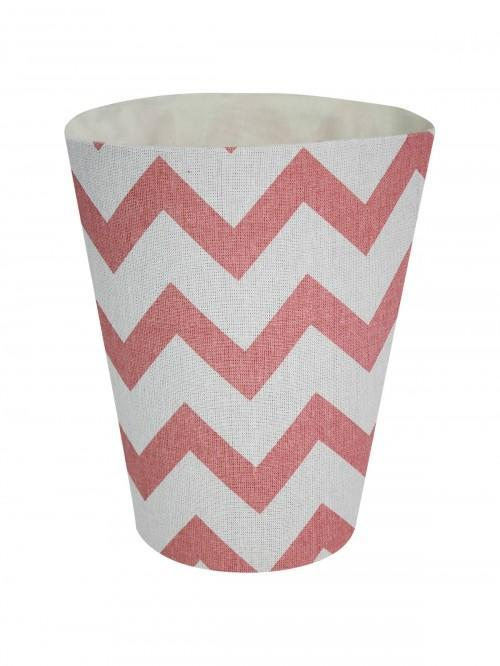 Chevron Waste Basket Pink