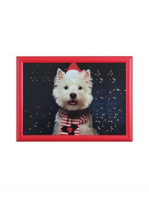 Westie Photographic Lap Tray Red