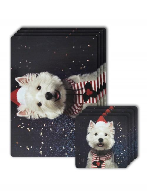 Westie Photographic Placemat & Coaster Set