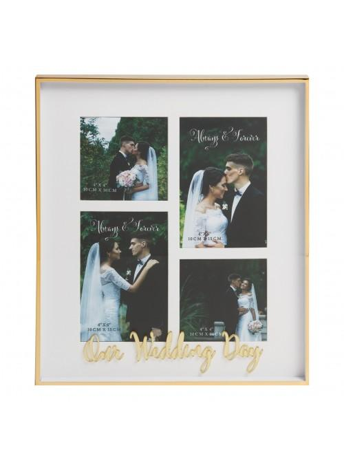 Always & Forever 'Our Wedding Day' Multi Aperture Frame