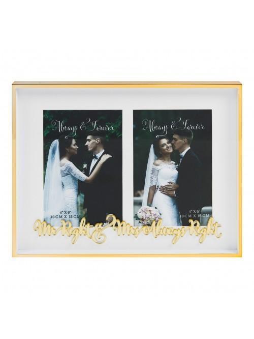 Always & Forever 'Mr & Mrs Always Right' Double Frame
