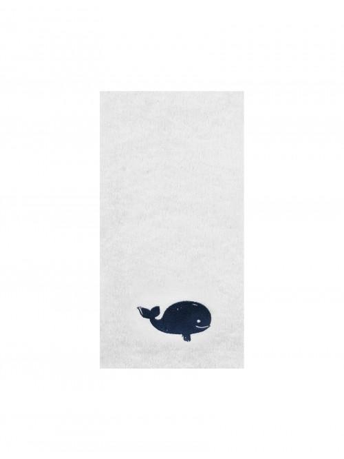 Whale Embroidered Hand Towel