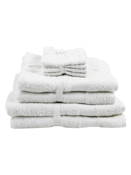 Two Pack 100% Cotton Egyptian Towels White