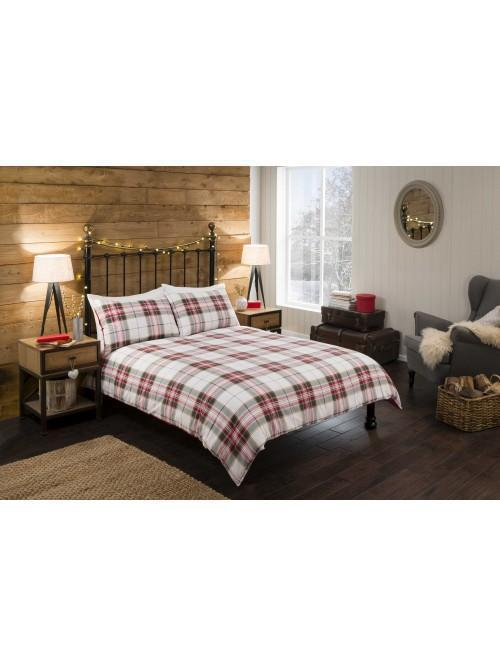 Winter Check Duvet Set White