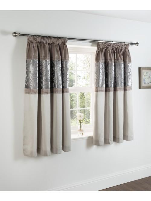 Woodland Leaf Bed Curtain Cream