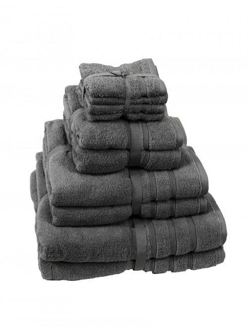 Hotel Collection Zero Twist Towels Charcoal