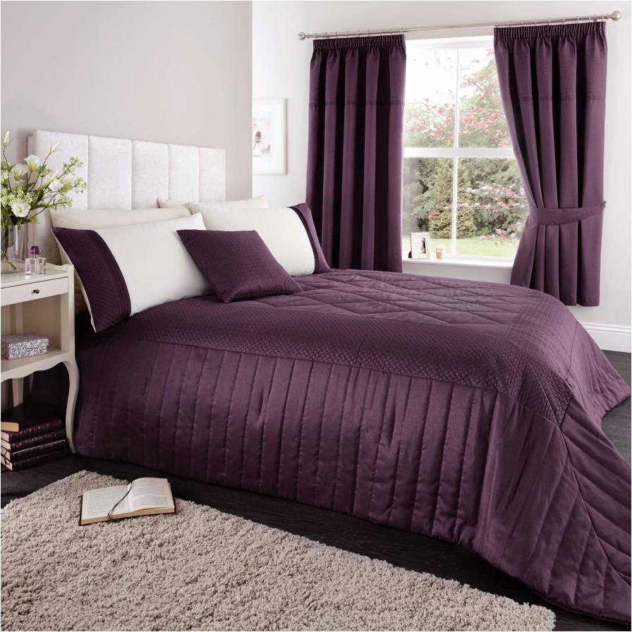 Quilted Cuff Bedspread Heather