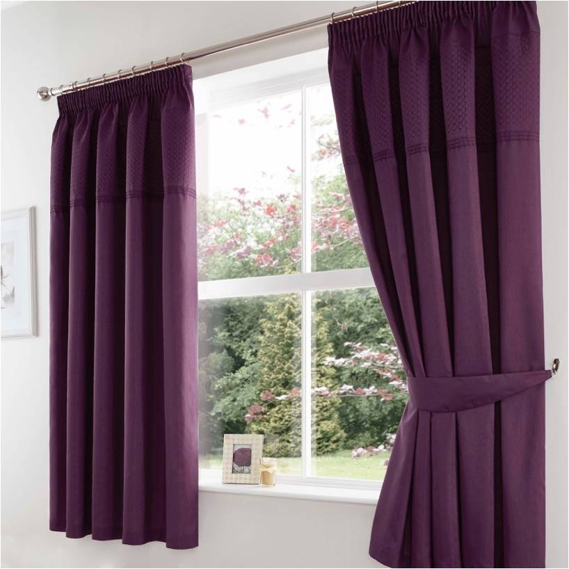 Quilted Cuff Curtains Heather